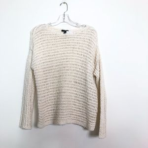 Eileen Fisher new sweater off white organic cotton
